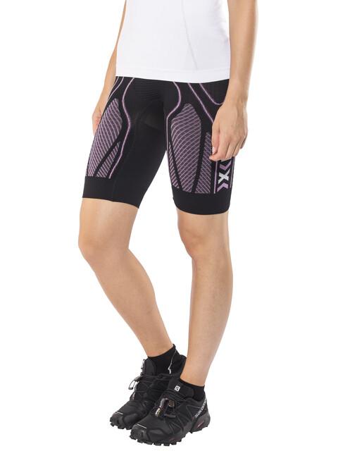 X-Bionic The Trick Running Pants Short Women Black/Pink